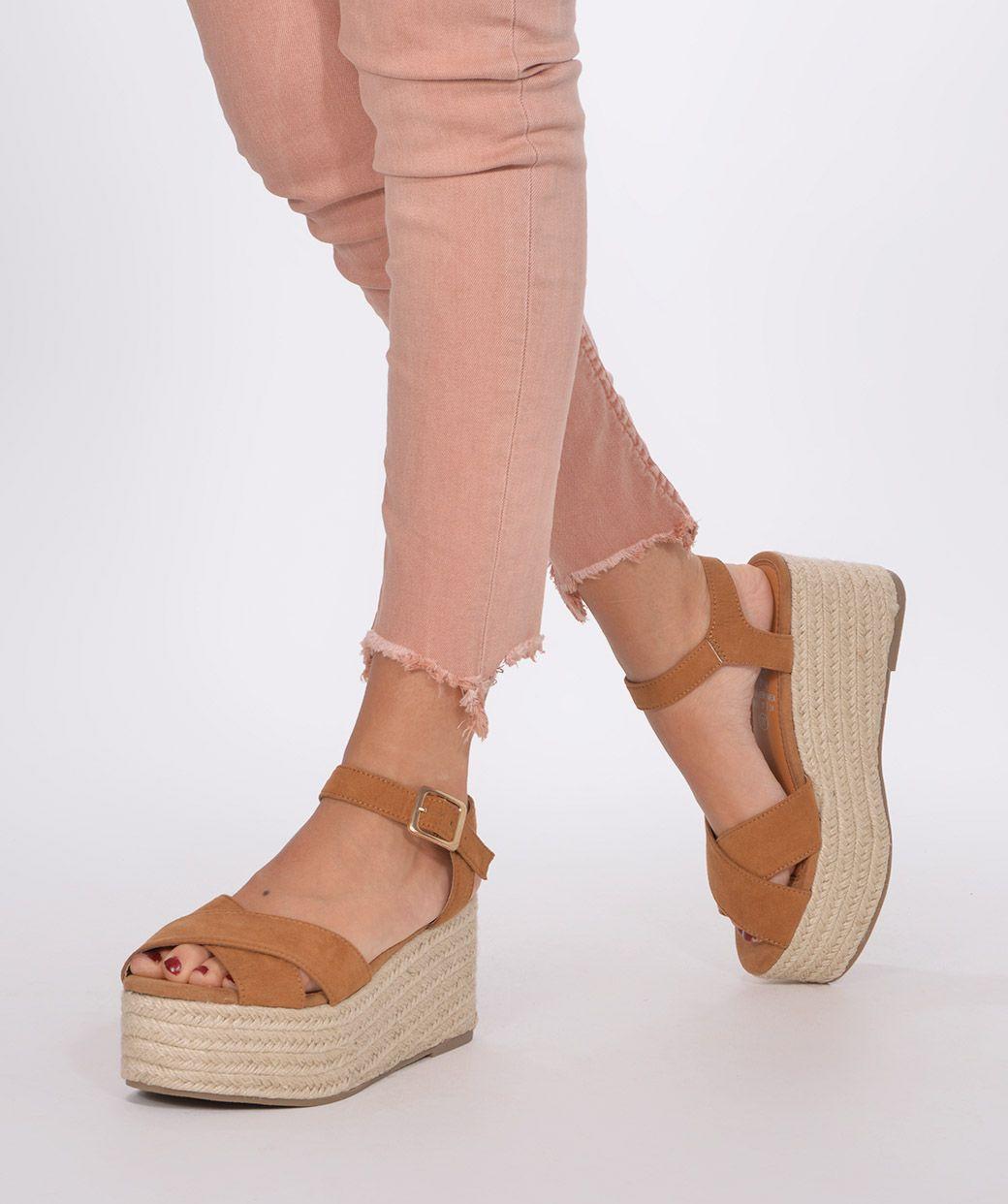 Sandalia Con Plataforma Esparto Sandalias Plataforma Zapatos Comunion Niña Zapatos De Tacón Lindos