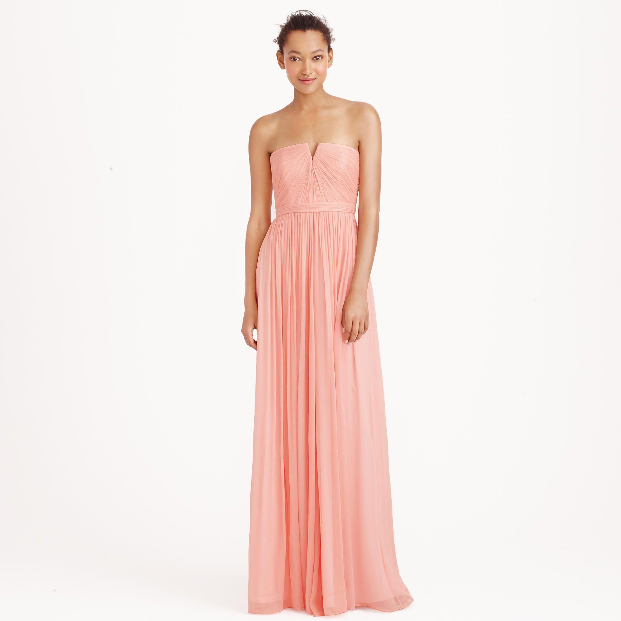 Petite Nadia long dress in silk chiffon : AllProducts | J.Crew ...