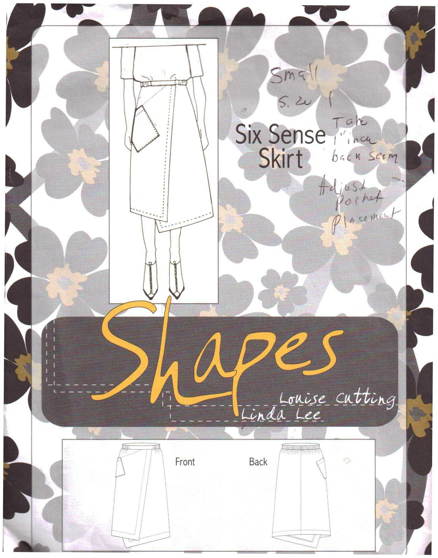Shapes Six Sense Skirt by Louise Cutting & Linda Lee Size: XS/S-M/L ...