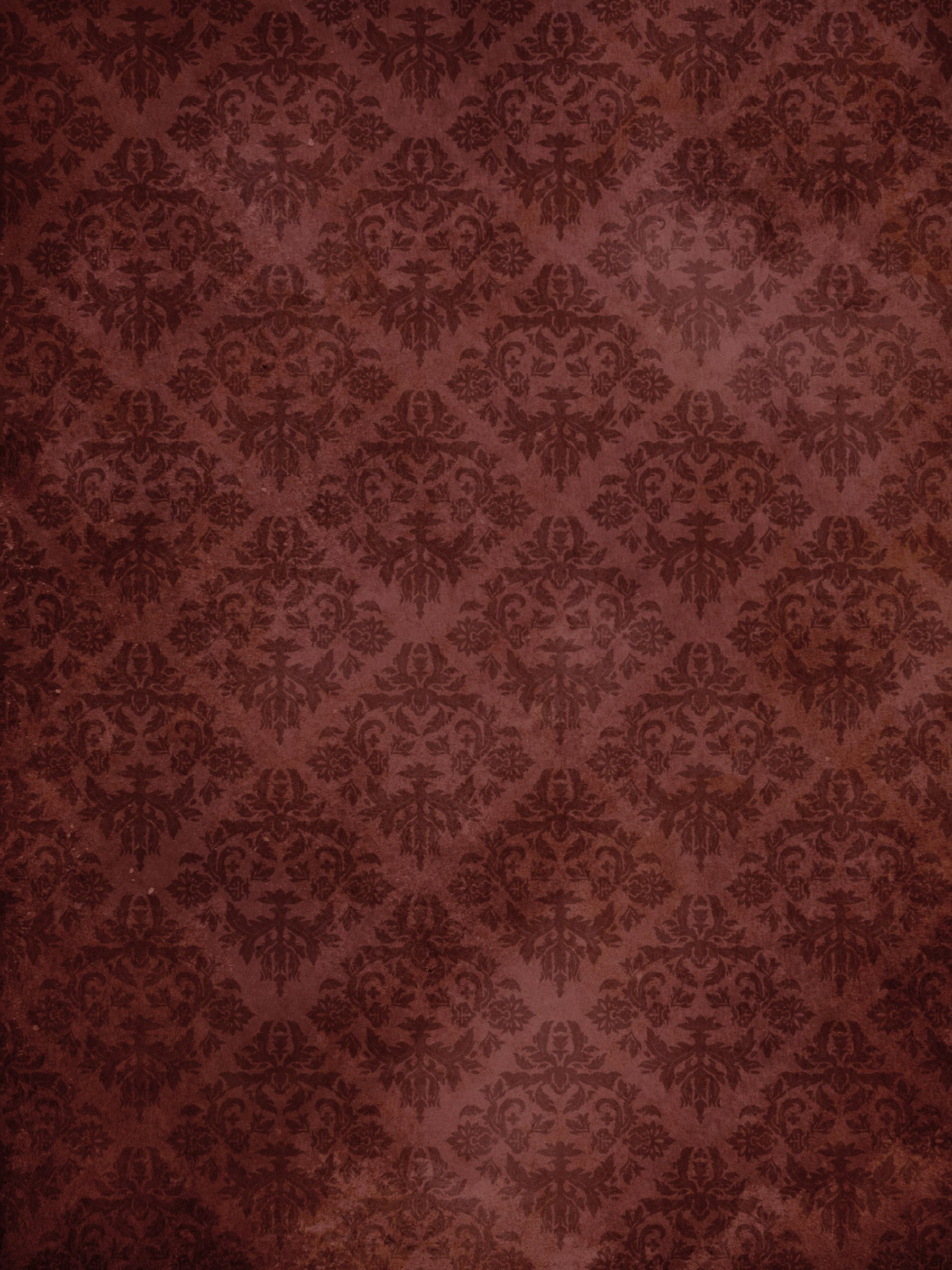 Wallpaper Designer Red Background with Gold Sand Textured Scroll