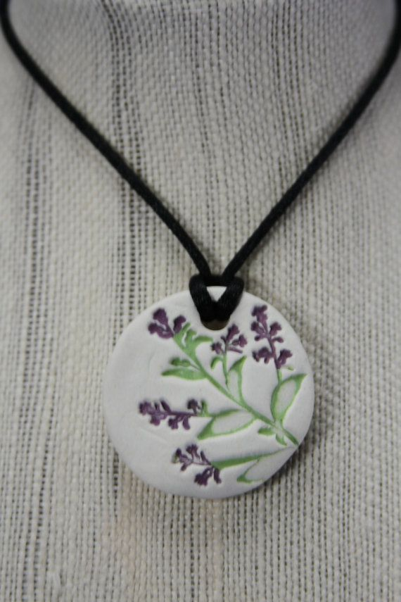 Natural Clay Diffuser Necklace Pendant or Car Air by UBWCreations