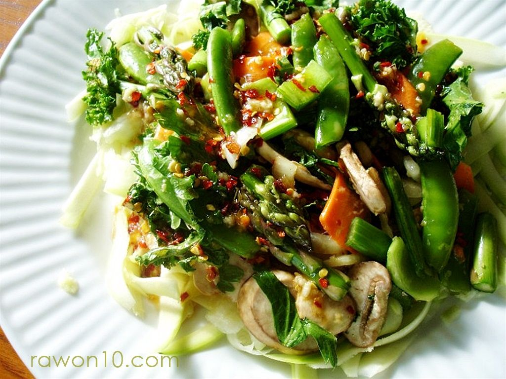Raw on 10 a day or less unstirfry raw food entree recipe easy affordable raw food recipes raw meal plans menus vegan recipes and lifestyle tips forumfinder Choice Image