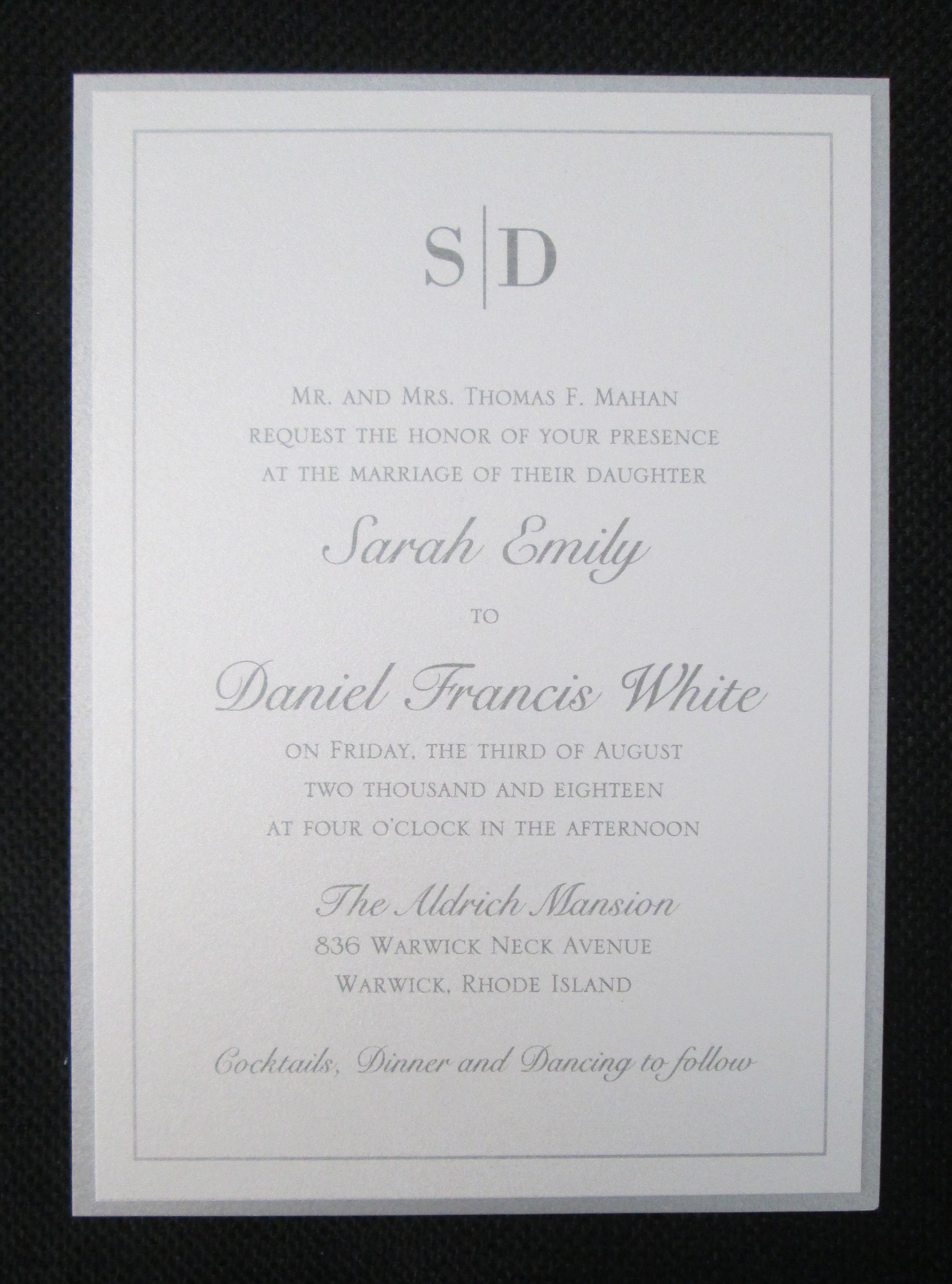 Double Layer Invitation With Monogram Making Wedding Invitations Day Pi: Pi Day Wedding Cards At Websimilar.org