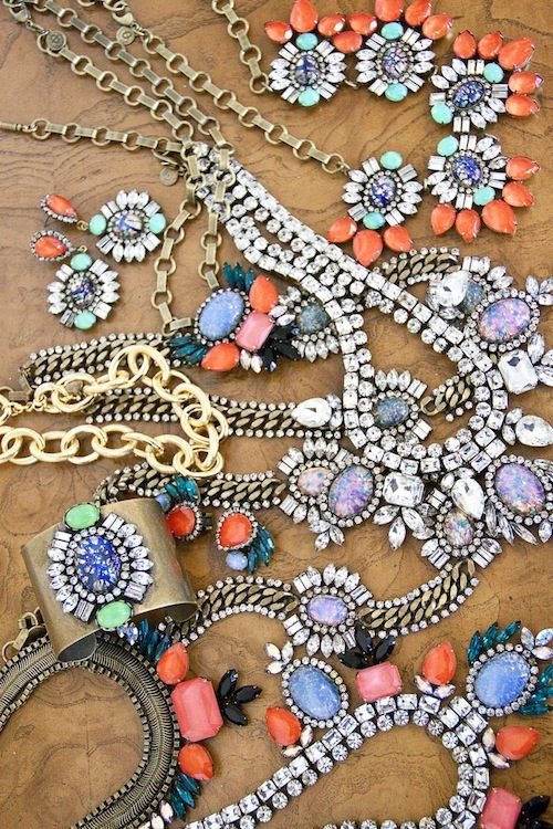 bright and colorful statement necklaces