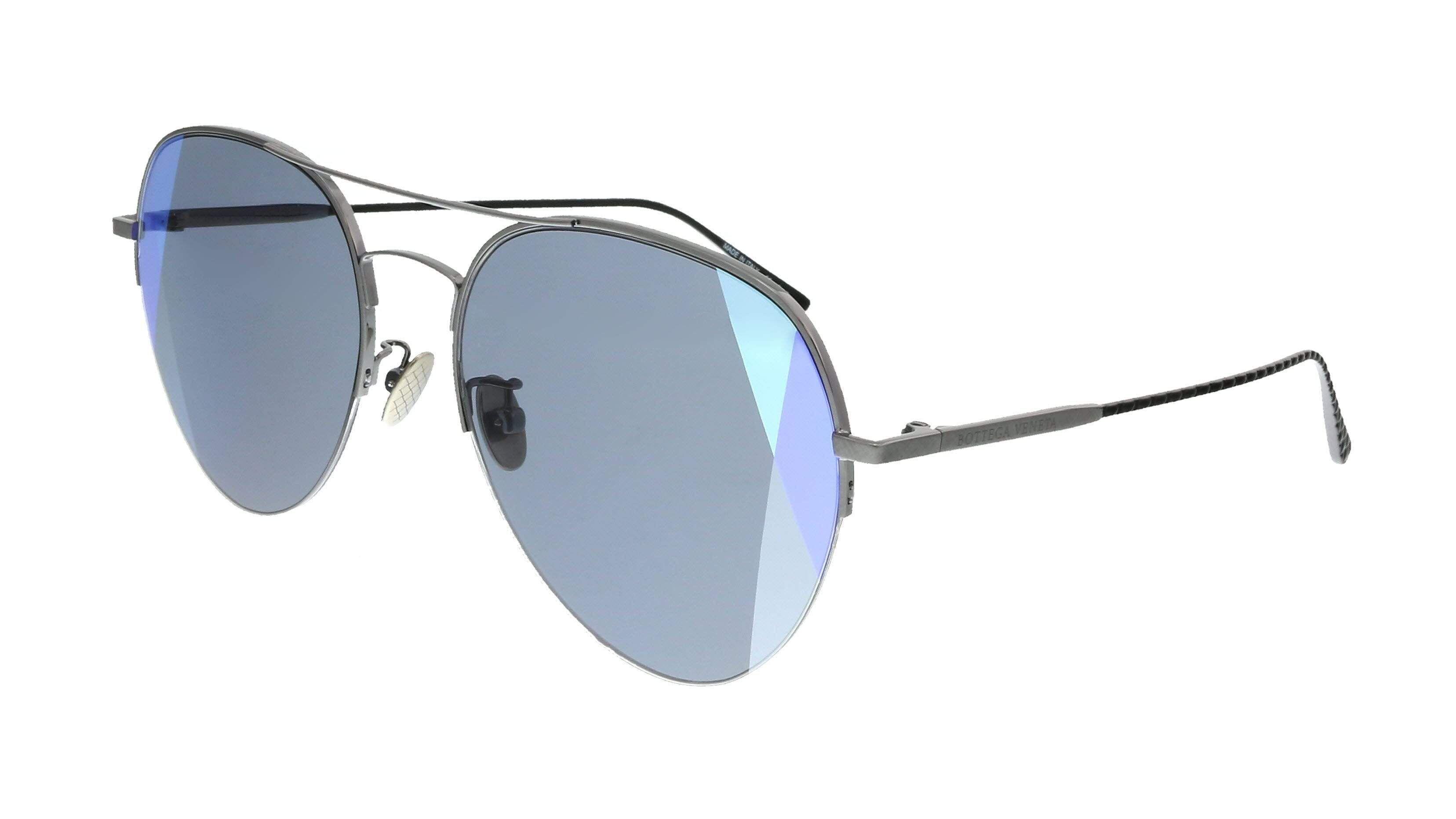 Bottega Veneta BV0247S 005 Ruthenium  Aviator  Sunglasses