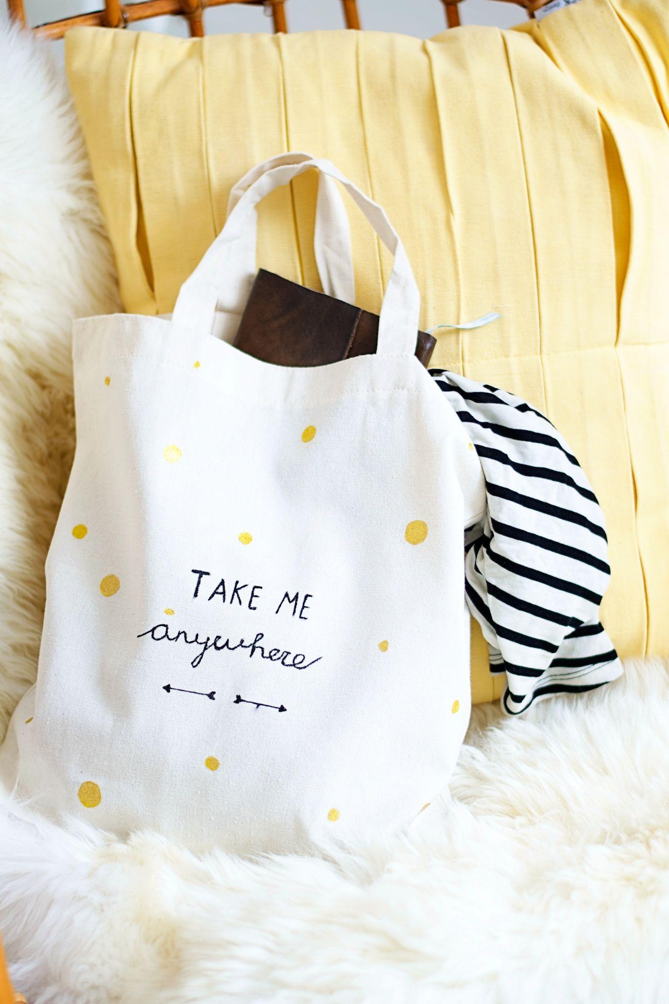 DIY personalized tote bag (get your google translator ...