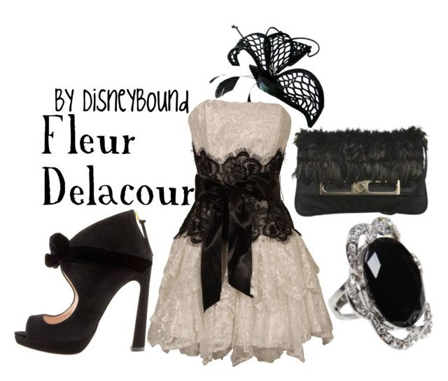"""Fleur Delacour Wedding"" by leslieakay ❤ liked on Polyvore featuring PacificPlex, Miu Miu, Fiorelli, Rosie Fox and harry potter"