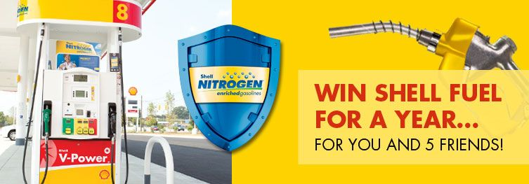 Win Shell Fuel For A Year  a02204163