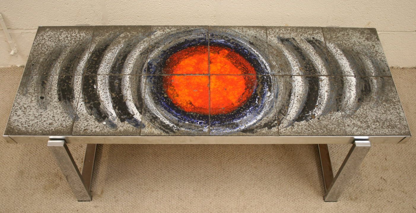 A Fab 70s Belgian Tiled Coffee Table