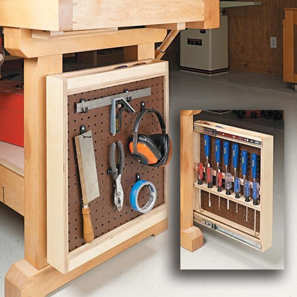 workbench tool rack woodsmith tips workbench on attractive garage storages ideas to organize your garage get these few tips id=15310