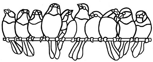 Stained Glass Patterns Birds On A Branch Bring Nature To Your