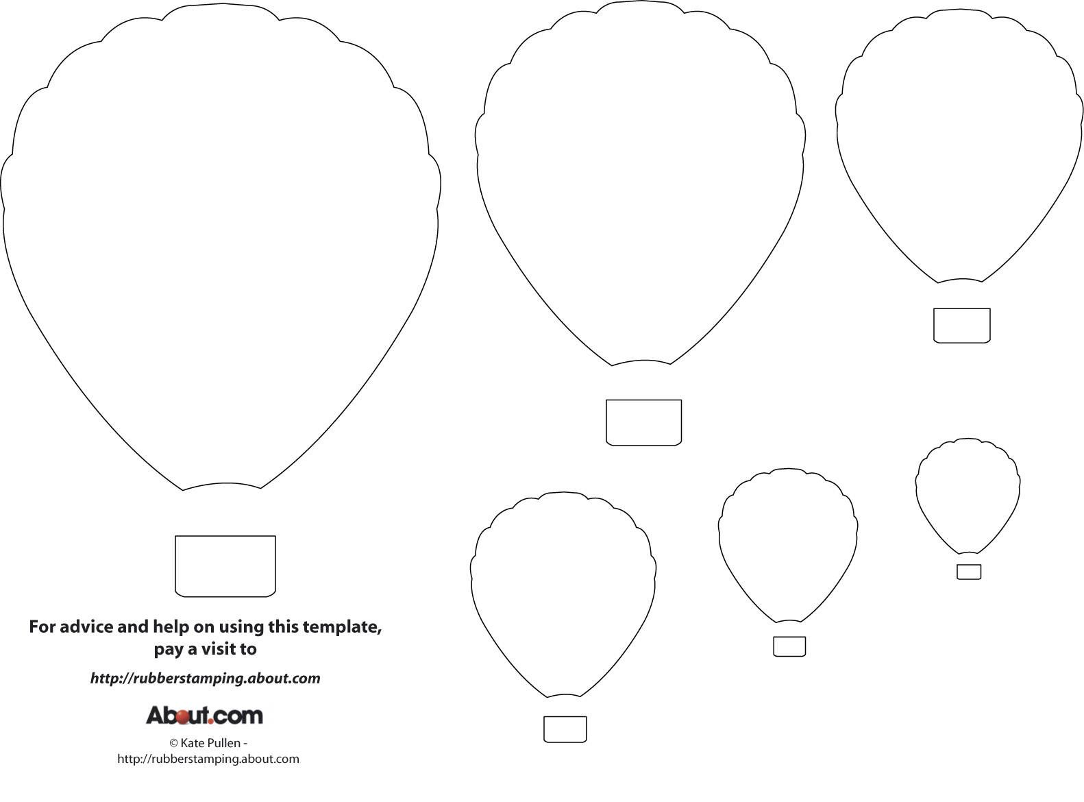 Free Craft Printables Templates Hot Air Balloon Template Printable Ribbon