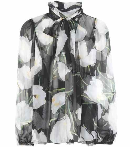 Printed silk blouse   Dolce & Gabbana