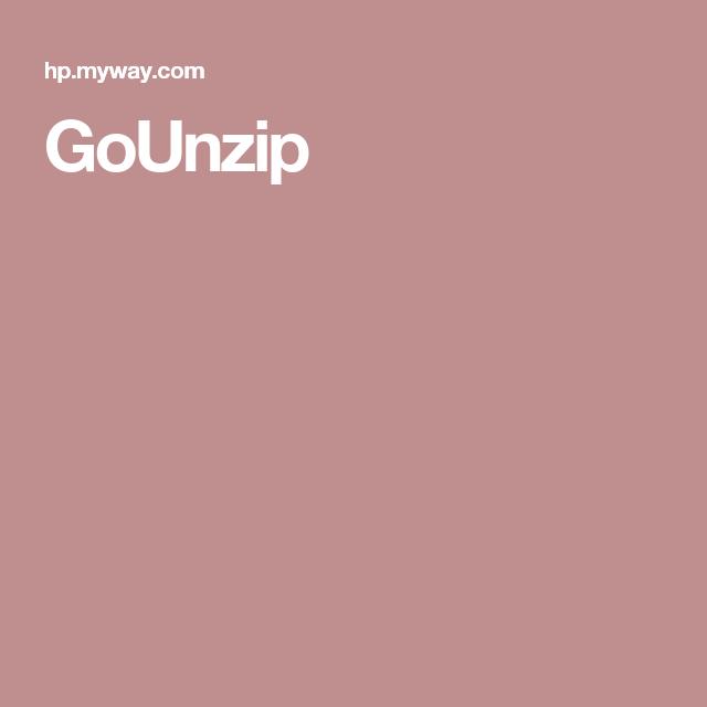 GoUnzip