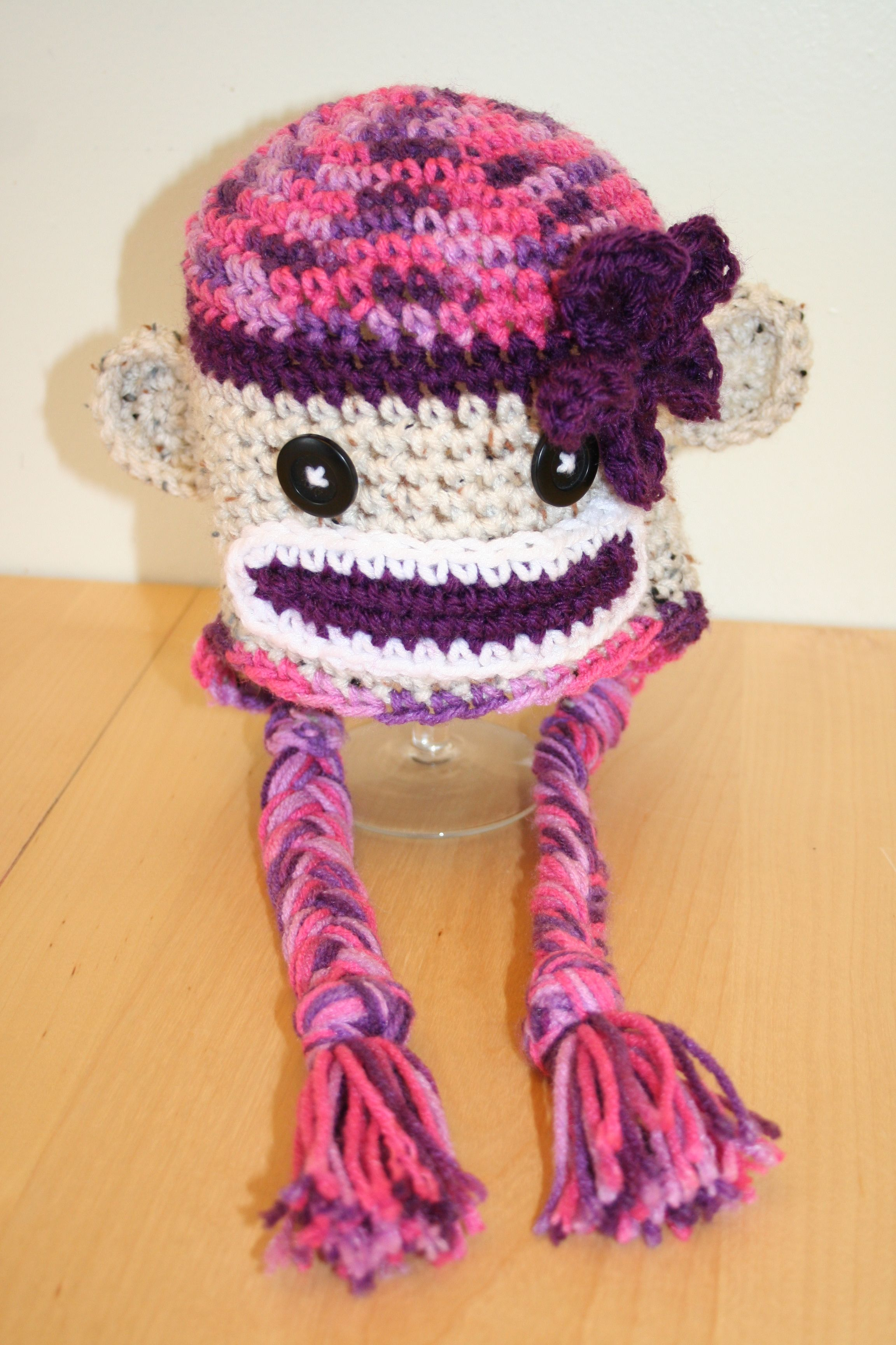 The jillian sock monkey hat i made this one for my daughter
