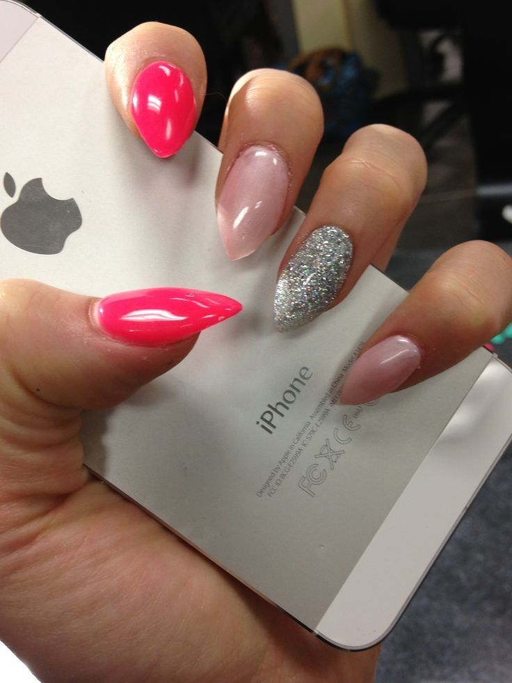The Simplicity Of Two Color Nail Designs Lange Frisuren Simple Nails Nail Colors Nail Designs