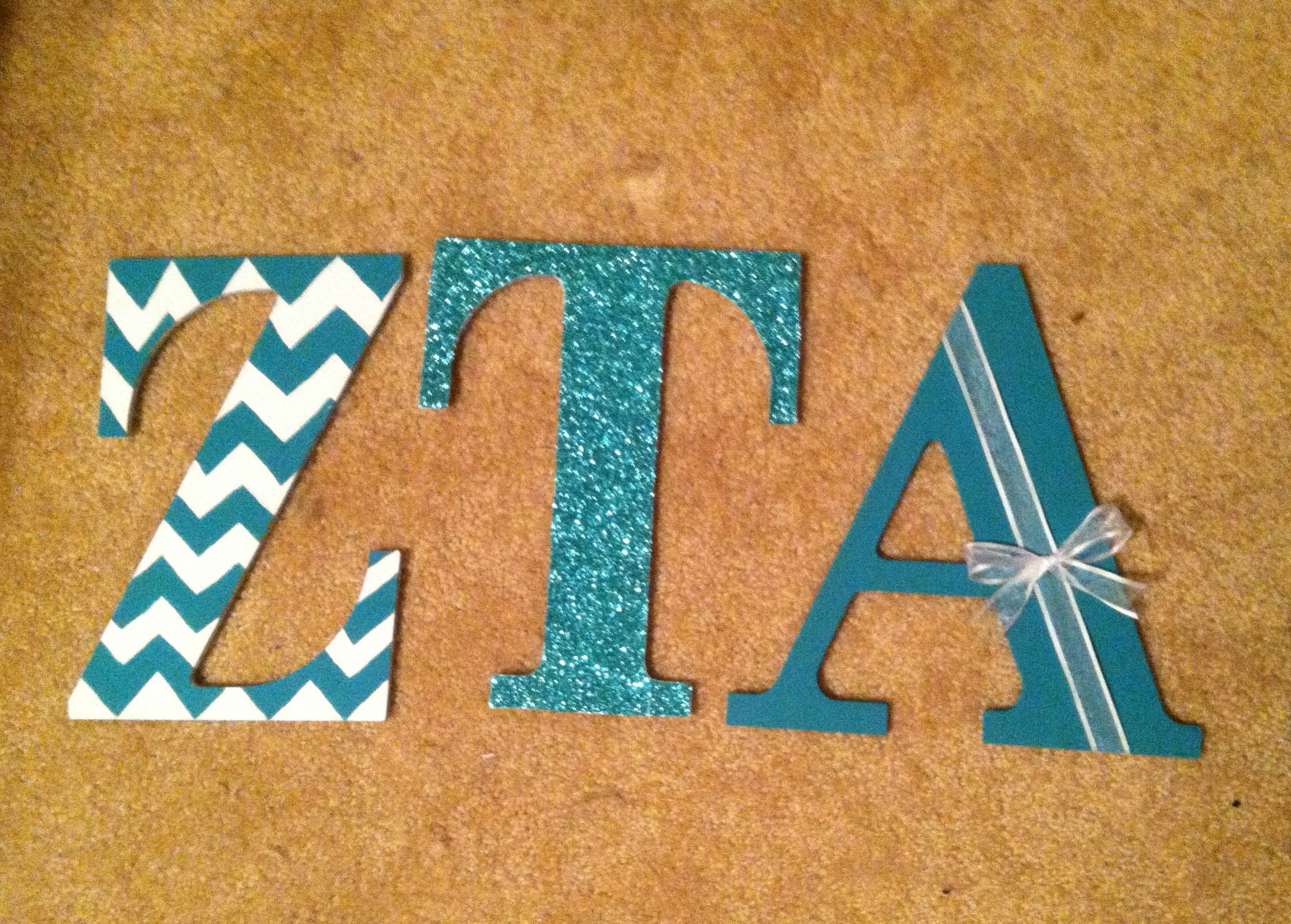 zta sorority wooden letters craft