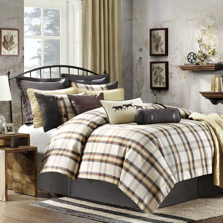 lapland plaid and red blue green set king queen twin sets flannel comforter black xl