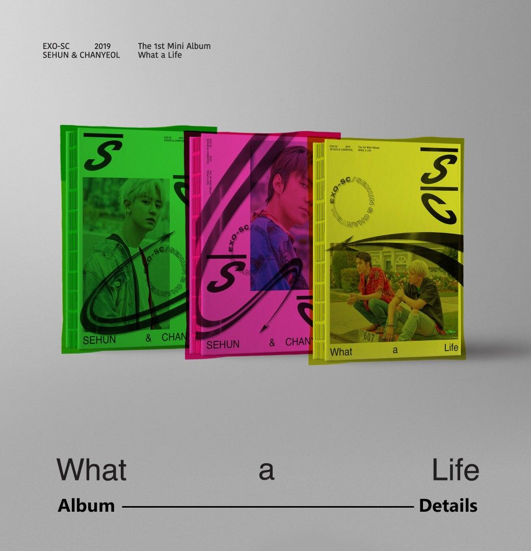 Exo Sc 1st Mini Album What A Life Album Details Exo Exo Sc Sehun Chanyeol Whatalife Weareoneexo Exu