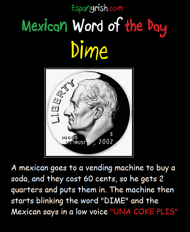 MexicanWordoftheDayDime Mexican words, Word of the