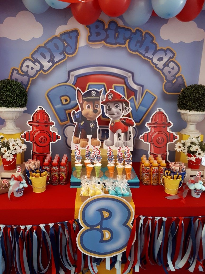 Paw Patrol Candy Table Paw Patrol Party Paw Patrol Birthday