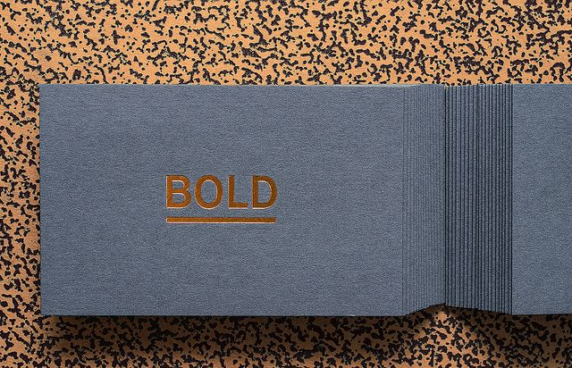 Foil #stamp #copper #laminate on #Colorplan dark grey card stock - resume on cardstock