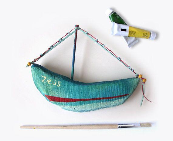 Small Decorative Wooden Wall Hanging Ship. $25.00, via Etsy.