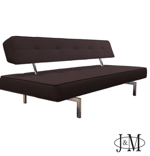 J M Furniture Premium Sofa Bed K18 In Brown Leatherette 176012