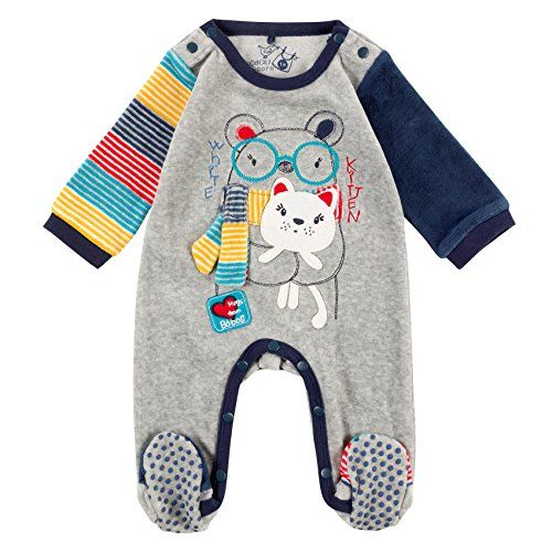 Boboli Baby Boys Velour Play Suit For Bodysuit Grau Me Https