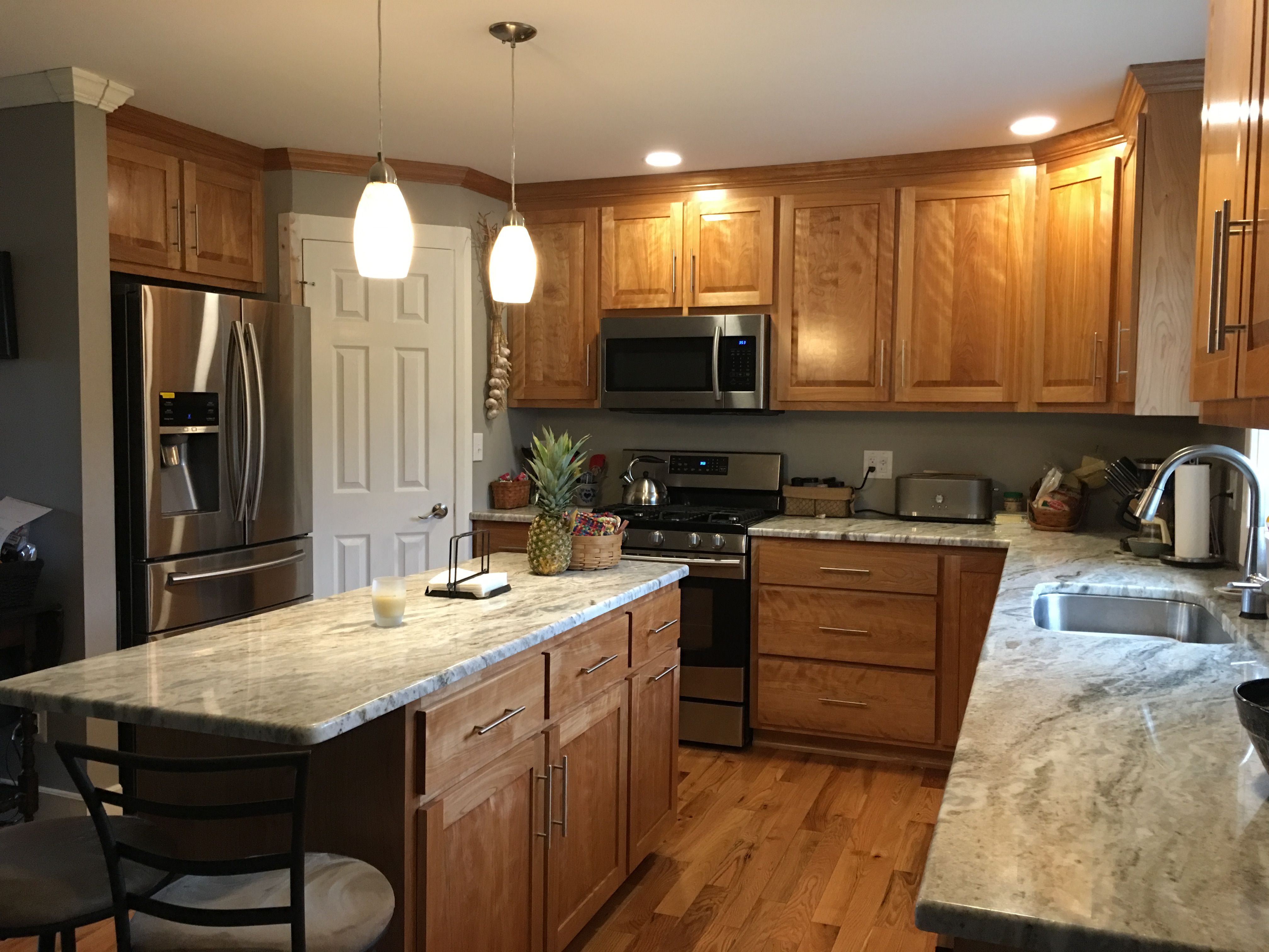 Red Birch Cabinets Diy Kitchen Remodel New Kitchen Cabinets Kitchen Cabinets