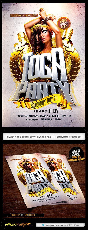 Toga Party Flyer Toga Party Party Flyer Flyer
