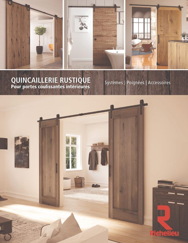 Catalogue quincaillerie rustique pour portes coulissantes int rieures page 1 cuisine - Quincaillerie porte coulissante ...