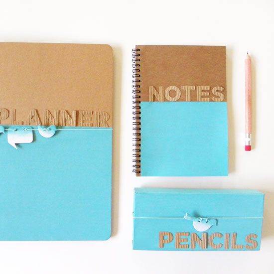 Customize Your Folder Binder, Notebook And Pencil Case