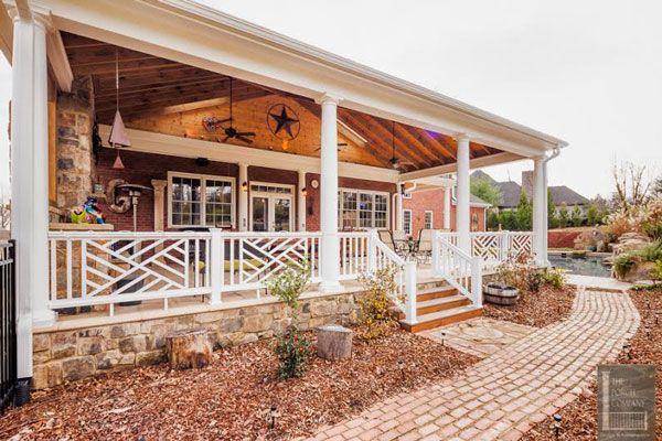 vinyl porch railing ideas for porches and decks porch railings