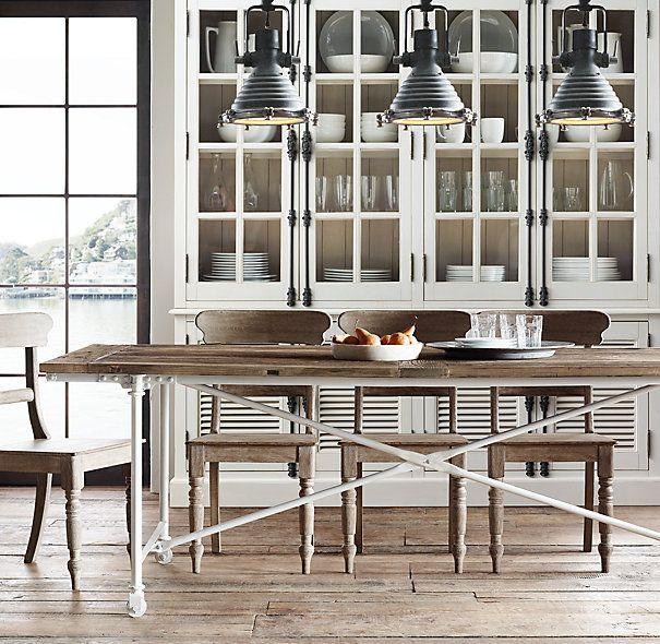 Flatiron Rectangular Dining Table Dining Table In Kitchen Metal