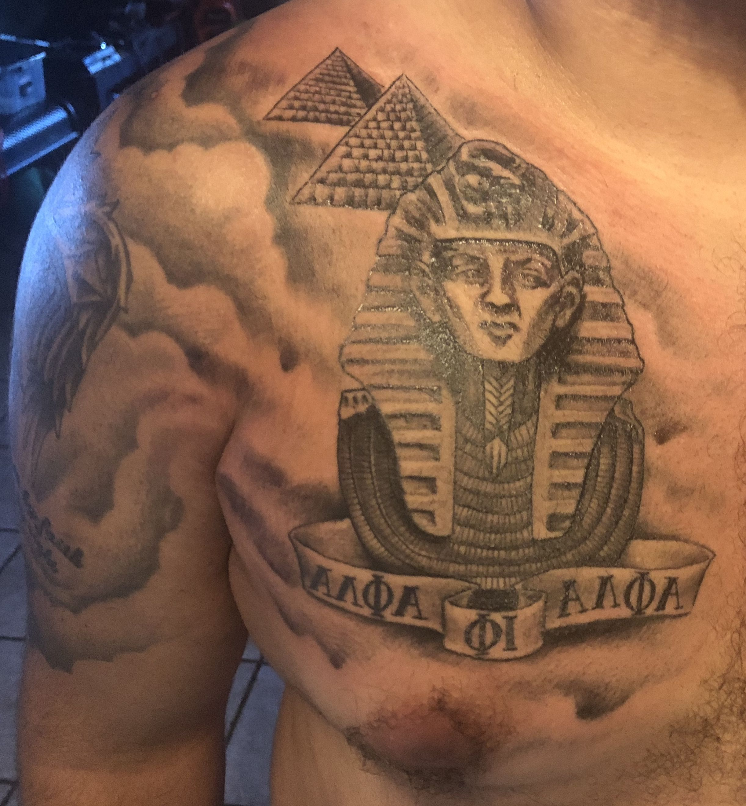 Alpha Phi Alpha Tattoo Pyramid Pharaoh Tattoos Greek Tattoos Hand Tattoos Alpha Phi Alpha