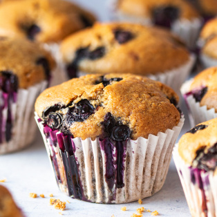 Vegan blueberry muffins Recipe Vegan blueberry muffins