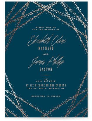 Charmant Starry Night Wedding Invitations | Minted