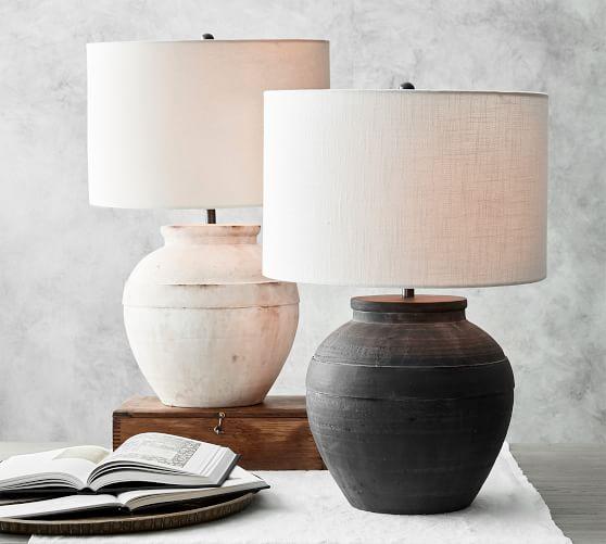 Faris Ceramic Table Lamp Base In 2020 Table Lamp Base Table Lamp Wood Small Table Lamp