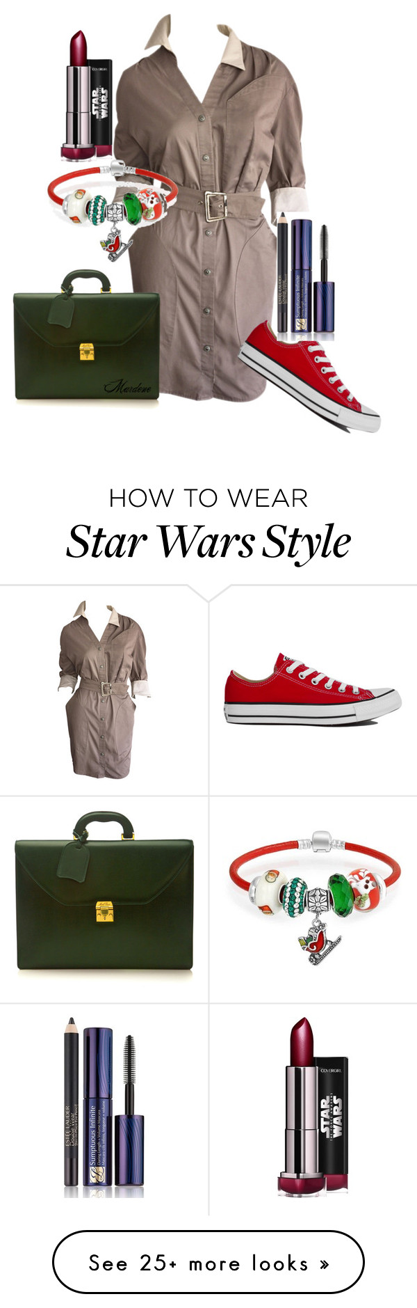 """Doctoral Student Ready"" by mardenec on Polyvore featuring Thierry Mugler, Converse, Mark Cross, Bling Jewelry and Estée Lauder"