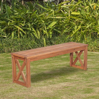 walker edison x leg patio wood picnic bench products