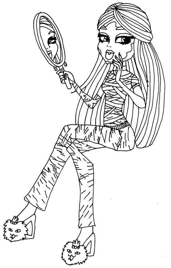 Cleo De Nile Look In The Mirror Coloring Page | VaNiTy | Pinterest