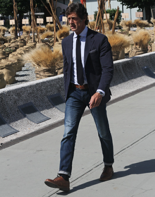matrimonio jeans e giacca