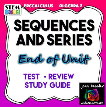 Sequences and Series Test/Review 2 versions | | Math • High School