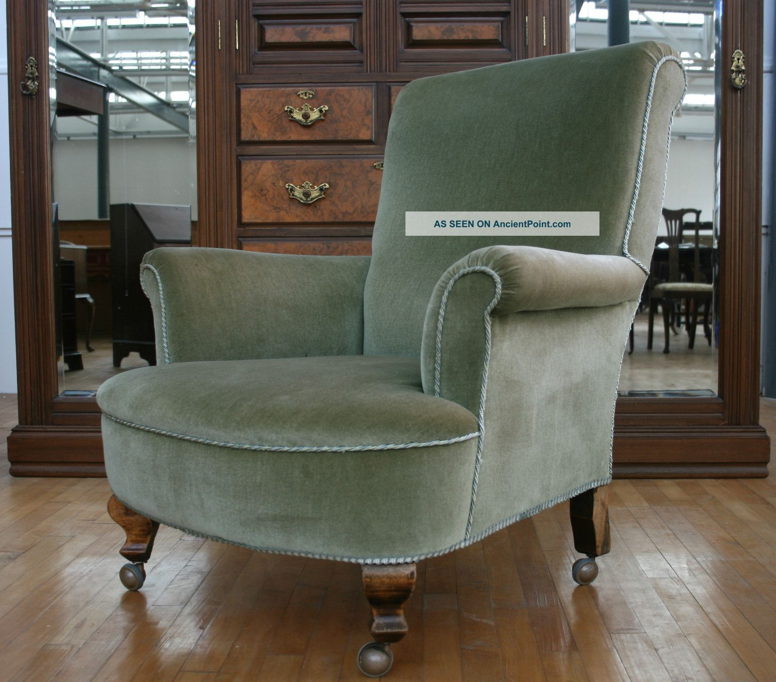 Antique easy chair - Antique Victorian Armchair Gentlemans Club House Parlour Arm Easy Chair No 1 1800 1899