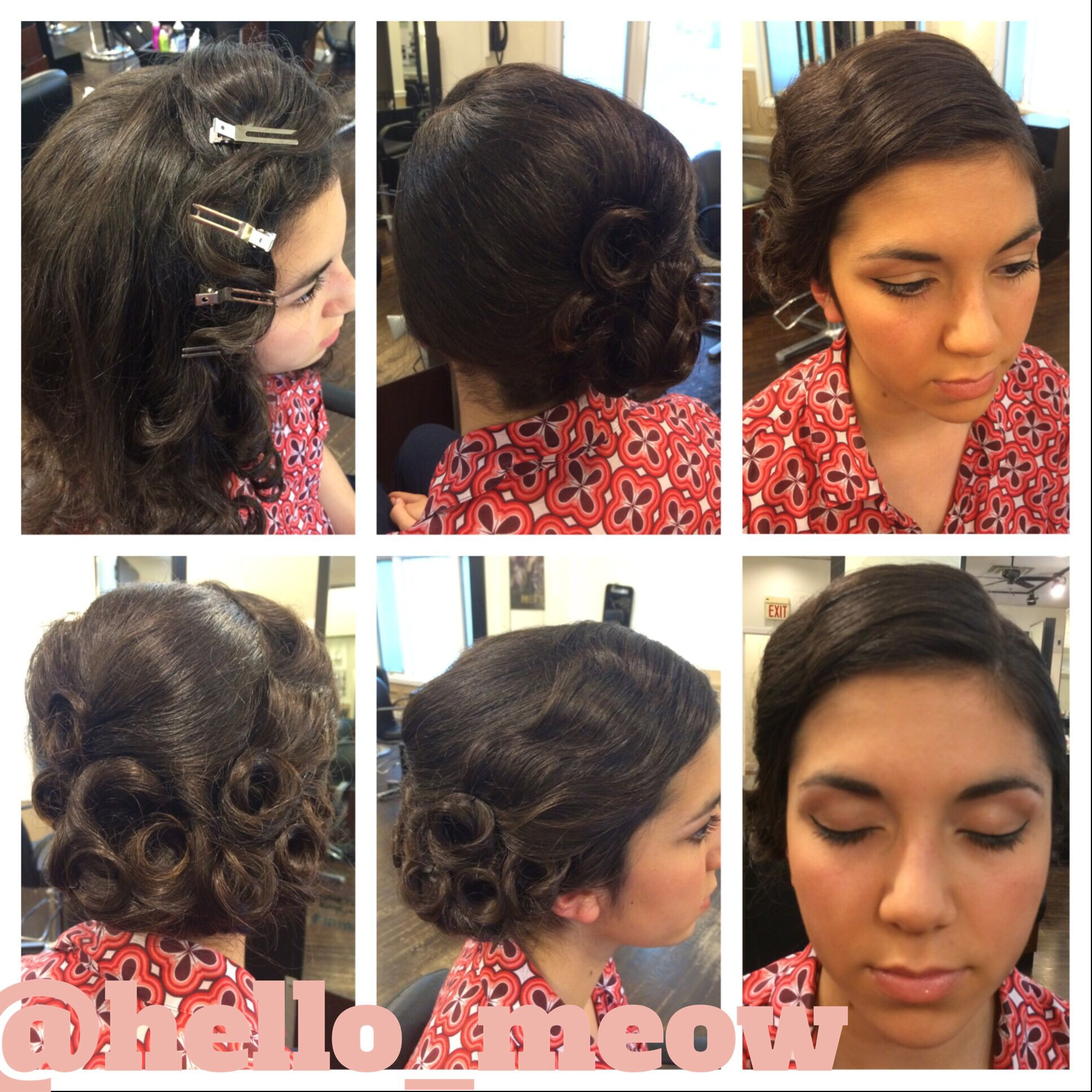 Gatsby inspired updo for prom