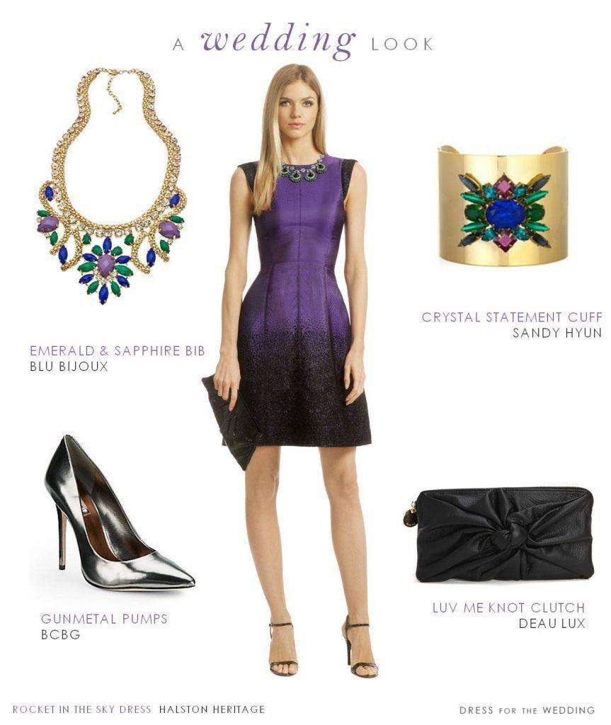 Purple Dresses for Weddings Guest