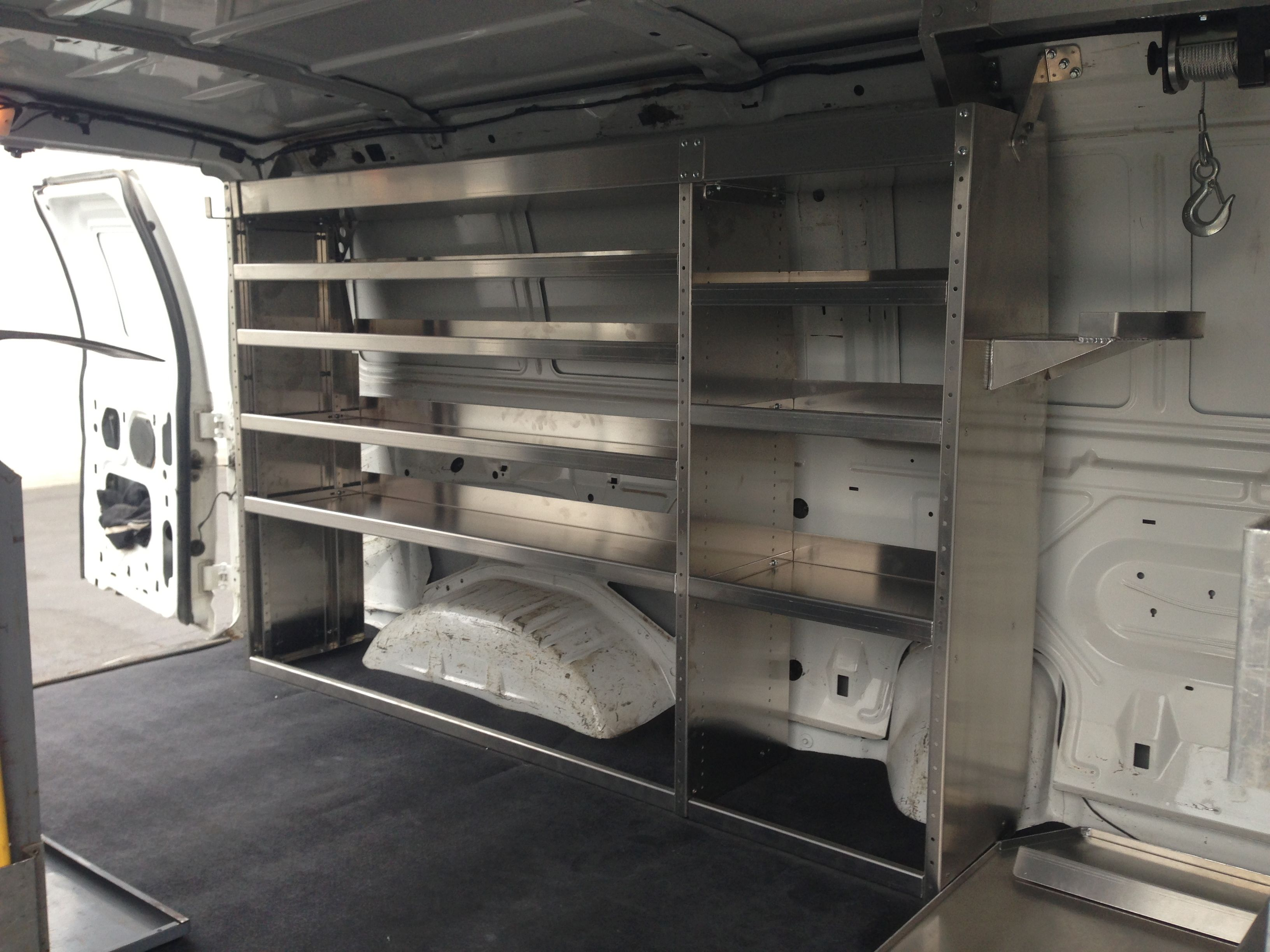 Cargo Van Shelving 360035 A Van Shelving Van Storage Van Racking