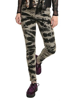 4af72bea2a392 Blackheart Grey Black Tie Dye Super Skinny Jeans, GREY   Dream ...