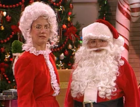 roseanne and becky really do make a great mr santa claus don t you think watch them together starting this christmas eve on the tv land merrython